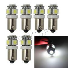 6x 5-SMD BA9S LED Bulbs Wedge Xenon White For License Plate Light Interior Lamp