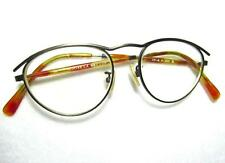 Oliver Peoples OP-6 Eyeglass Frame Pewter with Tortoise Arms P-380 Pewter