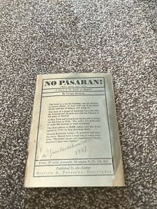 No Pasaran! (They Shall Not Pass) - A Story of the Battle of Madrid PB Upton Sin