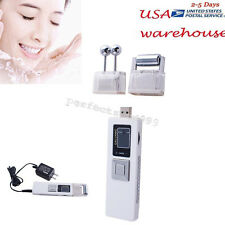 Portable Wireless Galvanic Roller Beauty Facial Skin Care Spa Salon Machine