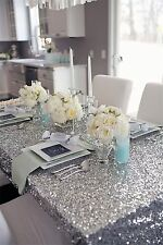 Silver Sequin Table Cloth 120cmx180cm Wedding Event Party Banquet Supplies