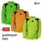 Goalkeeper top yellow green orange boys girls mens womens soccer futsal football