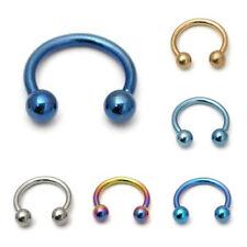 Titanium Circular Barbells ( Horse shoes ) Choose gauge, Length and Colour
