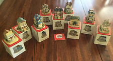 Liberty Falls Americana Collection Village, 9 houses and shops with boxes Nice!