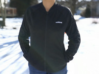 Adidas Womens Dazzle Track Tops Jacket Solid Black Full Zip Multi Sport DZ7656