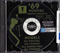 Gran Prix /& Tempest Shop /& Body Manual CD PONTIAC 1962 Bonneville Catalina