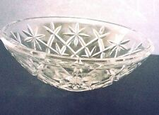 Vintage Cut Glass Crystal Fruit Bowl Star Pattern