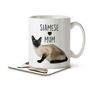 Siamese Mum - Mug and Coaster by Inky Penguin