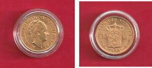 10 Gulden Goldmünze Niederlande, Königin Wilhelmina, vorzüglich
