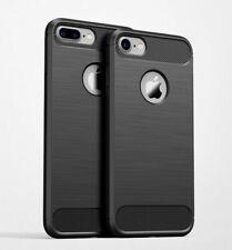 Carbon Fiber Slim Soft TPU Silicone Cover Case For iPhone 6s 6 7 Plus 5 SE