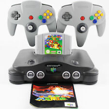 N64 / Nintendo 64 - Konsole + 2 Controller Grau Neu + Super Mario 64 (Anl)