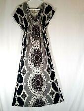 India Boutique Women's Floral Short Sleeve Full Length Dress Size Medium? Read