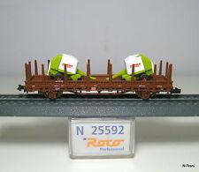 Roco N 25592 - Carro pianale Kbs 442 DB carico di 2 presse Claas Roll. 250