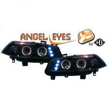 LHD Projector Headlights Pair Angel Eyes Clear Black For Renault Megane II 02-05