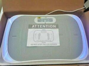 E&m Active Maxburn Fitness Plate with Built-in LCD Screen & Speaker White