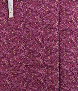 Purples,Red,Gold Leafy Floral Print Cotton Quilt Fabric,Crafts,Peter Pan