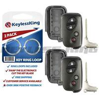 2 New Replacement Keyless Remote Shell Case Smart Prox Blank Key Blade W/ Insert