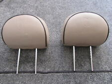 ROVER 75 Sandstone Beige Embossed Leather Headrests PPD