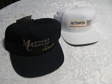 2 Maxwell Construction Baseball Hats Navy Blue Carhartt White Altorfer Two Caps