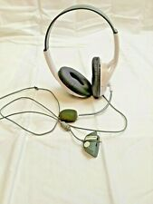 KMD Xbox 360 Live Pro Gamer Headset with Dual Earphone + Mic White Stereo Works