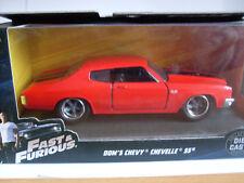 rápido y Furioso Dom `s Chevy Chevelle SS, Jada Auto Modelo 1 :3 2