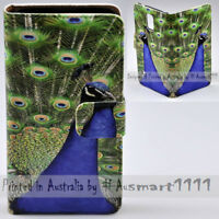For HTC Series Mobile Phone - Peacock Theme Print Wallet Phone Case Cover