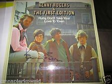 Kenny Rogers signed vinyl Ruby Don't Take Your Love to Town.