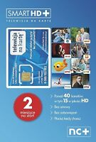 TELEWIZJA NA KARTE NC+ Smart HD+ 2 MIESIĄCE OGLĄDANIA CYFROWY POLSAT HD