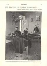 1902 German Monks Learning Sewing Machine Vienna Prince Komatsu