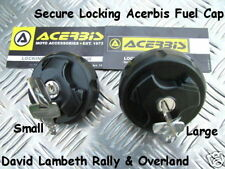 Large or Small Acerbis Locking Cap Fuel Petrol Gas Tank Tappo Chiave Serbatoio