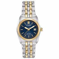 Citizen Eco-Drive Women's EW2294-53L Corso Blue Dial Two-Tone Braclet Watch