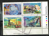Canada Exploration History stamps block 1967
