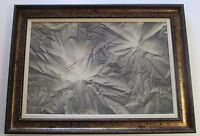 LARGE ABSTRACT SURREALISM PAINTING SIGNED TANO OR TANU SAN ?  MODERNIST REALISM