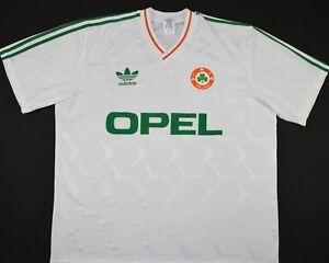 1990-1992 IRELAND ADIDAS AWAY FOOTBALL SHIRT (SIZE XL)