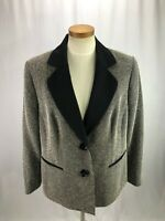 Kasper Women's Gray Black Herringbone Blazer 16W