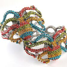 1x Multicolor Crystal Beads Octopus Animal Vintage Bracelet Bangle Cuff Jewelry