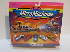 Micro Machines Originals #7 MUSTANGS '71 Mustang Coupe, '64 Coupe, '69 GT 500