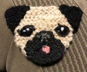 PUG KNITTED BROOCH