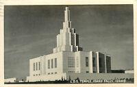 RPPC ID Postcard C491 LDS Temple Idaho Falls Idaho 1950 Cancel Brownell & Son