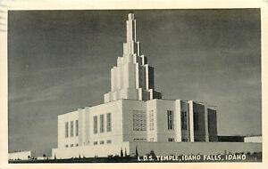 RPPC ID Postcard C491 LDS Temple Idaho Falls Idaho 1950 Art Deco Brownell & Son