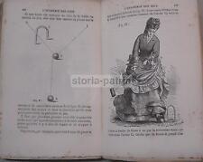 GIOCHI ANTICHI_ANTICO MANUALE_GROSSO VOLUME_CON ILLUSTRAZIONI_DA COLLEZIONE_1883