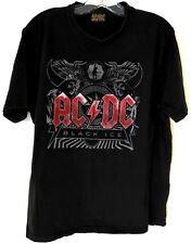 AC/DC Mens Concert T-Shirt Size XL Black Ice Official Licensed Black 2010