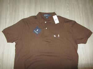 NWT Polo by Ralph Lauren Golf The Interblock Dress Shirt Striped Cotton M Brown