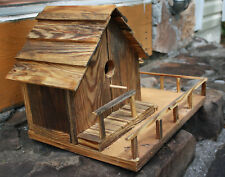 Collectible Hand Made One of a Kind Rustic Luxury Wooden Birdhouse
