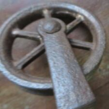 Vintage Iron wheel PULLEY small hanger Barn / house hold / Architectural ?