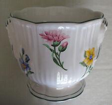 Vintage Tiffany & Co Cachepot Sintra Floral Design on White Porcelain