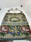 Antique Sterling    800 Silver  Beaded Purse Cherubs W  Pearls and Cab Sapphires