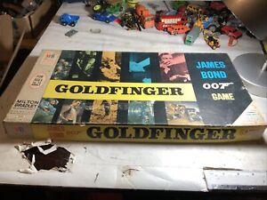Vintage James Bond 007 Milton Bradley Goldfinger Board Game Complete Unused