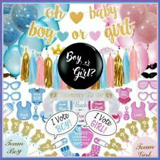 Gender Reveal Party Supplies,  Baby Shower Boy or Girl Reveal Kit (117 Pieces)