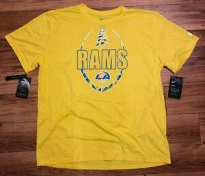 Mens Nike NFL Los Angeles Rams Dri-Fit Football Shirt Gold NWT